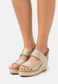 XTI - High heeled sandals - gold - 0