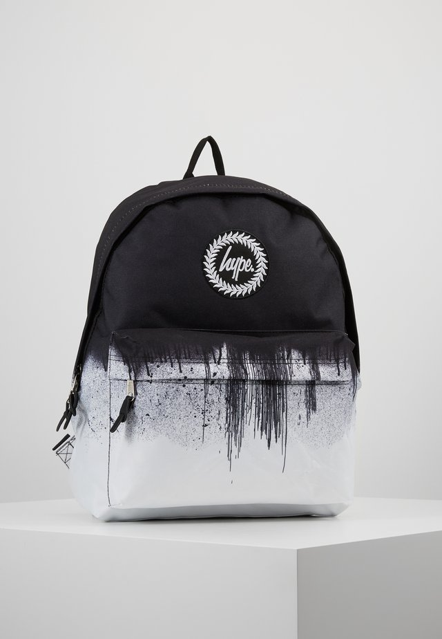 BACKPACK MONO DRIPS - Rucksack - black/white