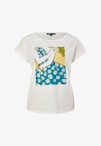 comma - Print T-shirt - white - 4