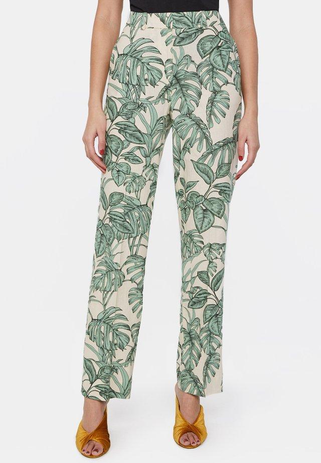 Spodnie materiałowe - white/green
