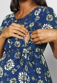Queen Mum - DRESS WOVEN NURS BEIGING - Sukienka letnia - sodalite blue - 5