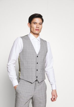 PRINCE CHECK - Vesta do obleku - light grey