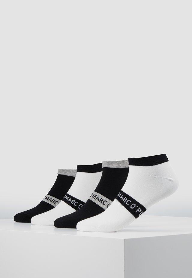 M-SNEAKER 4-PACK - Ponožky - black - white