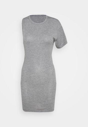 OFF THE SHOULDER TEE - Print T-shirt - grey