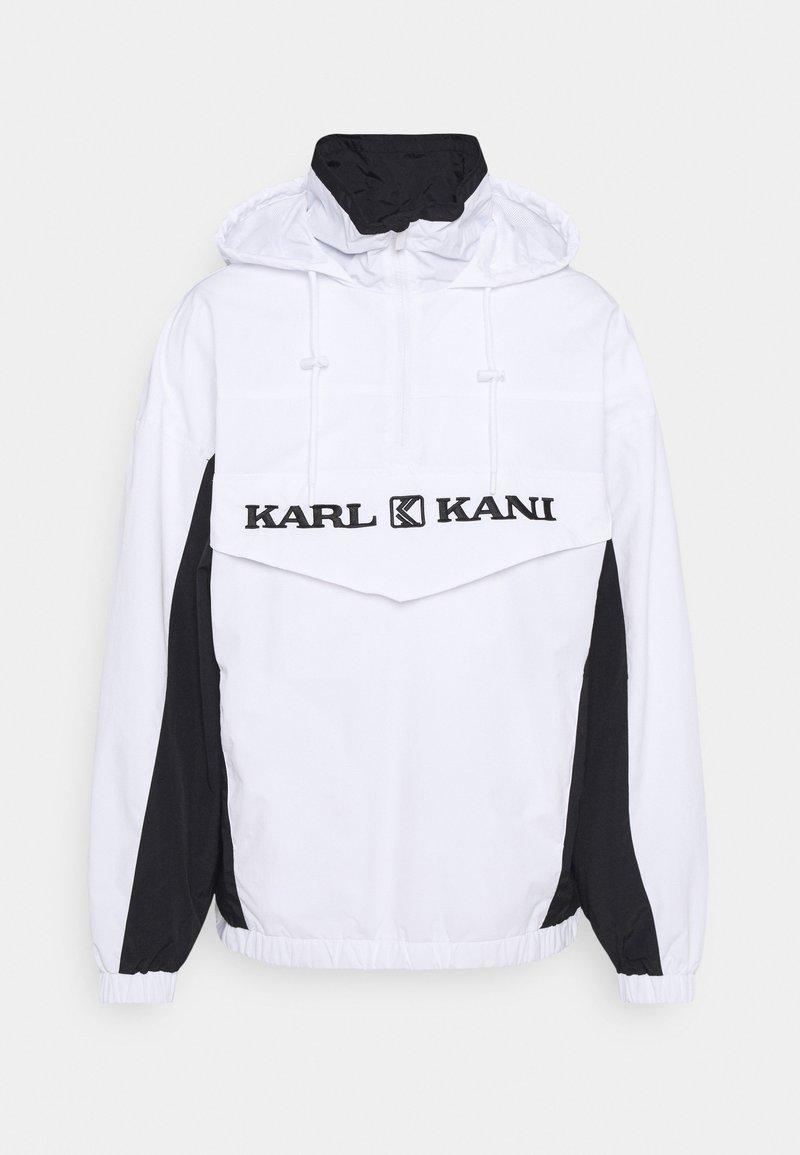 Karl Kani - RETRO BLOCK WINDBREAKER - Summer jacket - white