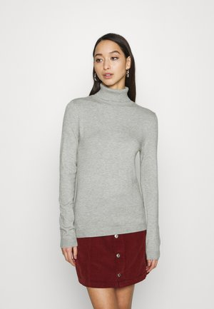 VMHAPPINESS ROLLNECK  - Strikkegenser - light grey melange