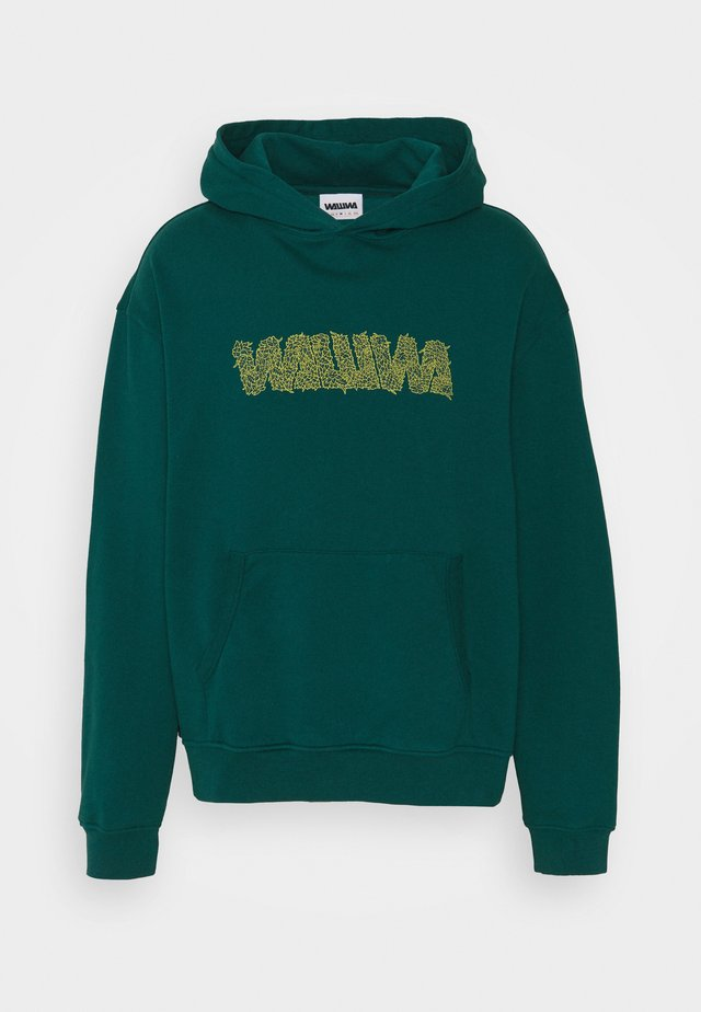OVERGROWN HOODY UNISEX - Felpa con cappuccio - jungle green