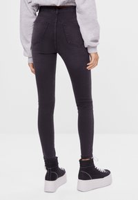 Bershka - Jeggings - dark grey - 2