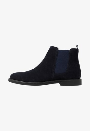 LEATHER - Bottines - dark blue