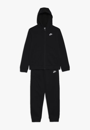 SUIT CORE - Zip-up hoodie - black/white