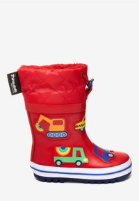 """Next - RED TRANSPORT THINSULATEÂ""""¢ CUFF WELLIES (YOUNGER) - Stivali di gomma - red - 3"""