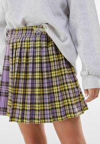 Bershka - Plisovaná sukně - mauve - 3