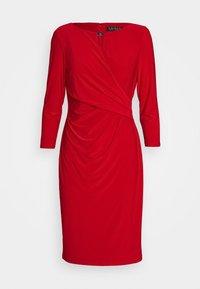 Lauren Ralph Lauren - MID WEIGHT DRESS TRIM - Shift dress - orient red - 7