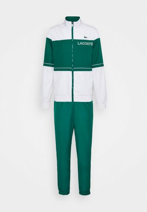 TRACK SUIT - Tracksuit - bottle green/white