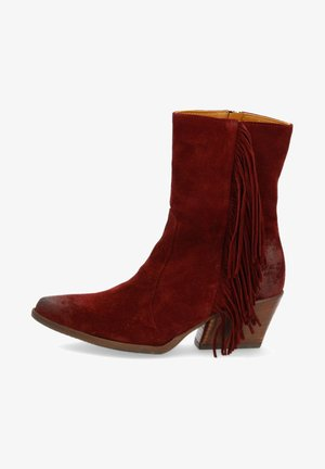 High heeled ankle boots - mogano