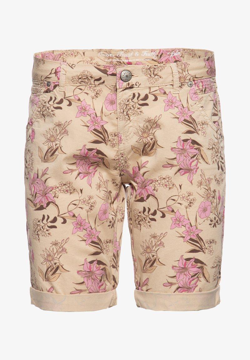 Amor, Trust & Truth - MIT FLORALEM  LOLA - Denim shorts - beige