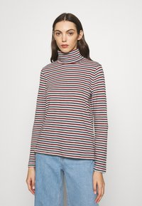 Madewell - WHISPER TURTLENECK IN GRINCH STRIPE - Long sleeved top - midnight green - 0