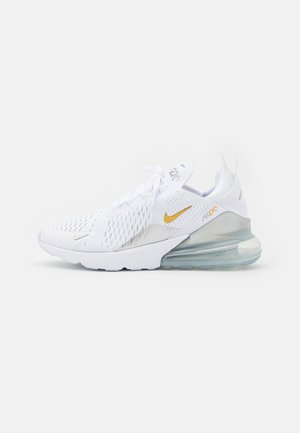 AIR MAX 270 - Sneakers basse - white/metallic gold/metallic silver