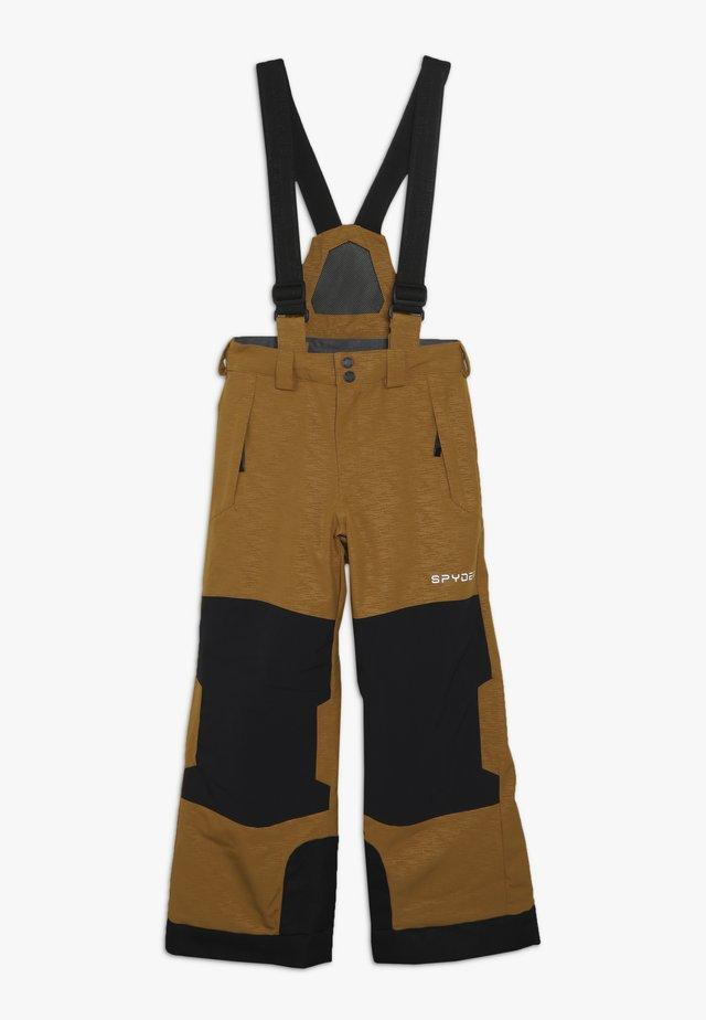 BOYS LIAM - Spodnie narciarskie - camel
