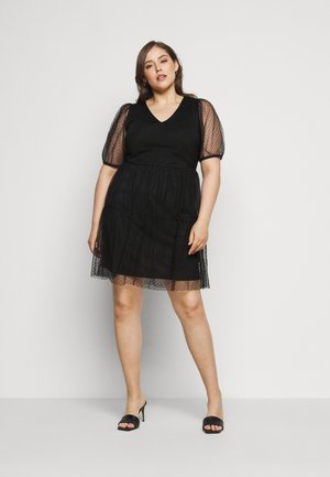 VMLUCILLE V NECK DRESS - Day dress - black