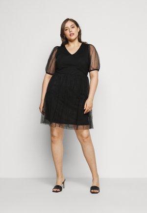VMLUCILLE V NECK DRESS - Korte jurk - black