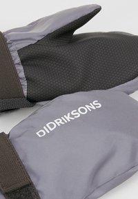 Didriksons - BIGGLES REFLECTIVE KIDS MITTENS - Mittens - silver - 3