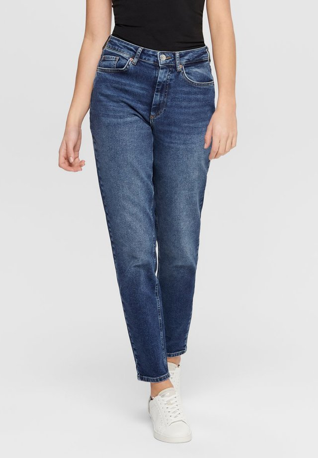 MOM FIT JEANS - Vaqueros slim fit - dark blue denim