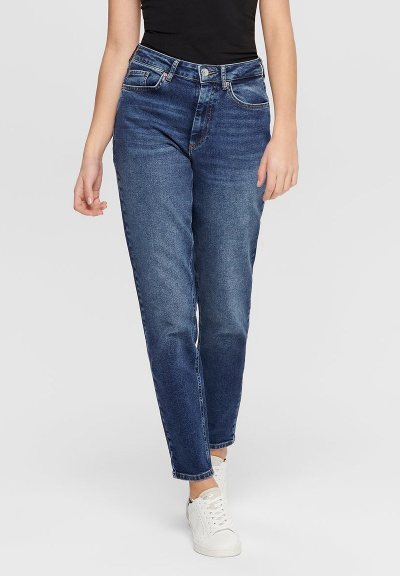 ONLY - MOM FIT JEANS - Slim fit jeans - dark blue denim