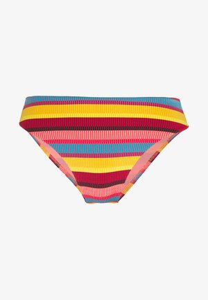BAJA STRIPE HI RISE - Bikini bottoms - saffron