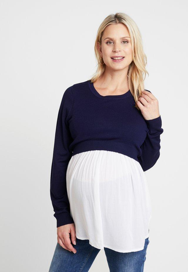 BABYDOLL NURSING  - Pullover - ink/white
