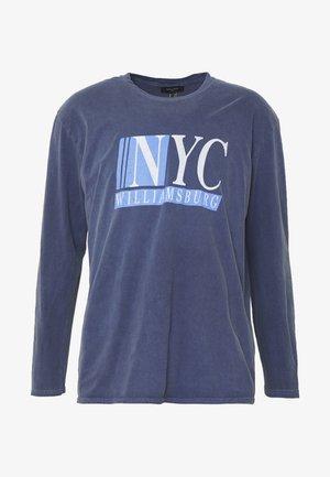 TEE - Long sleeved top - mid blue