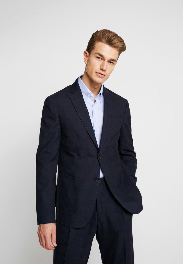 SLIM FIT CHECK FLEX BLAZER - Suit jacket - blue