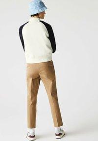 Lacoste - Zip-up sweatshirt - blanc/bleu marine - 1