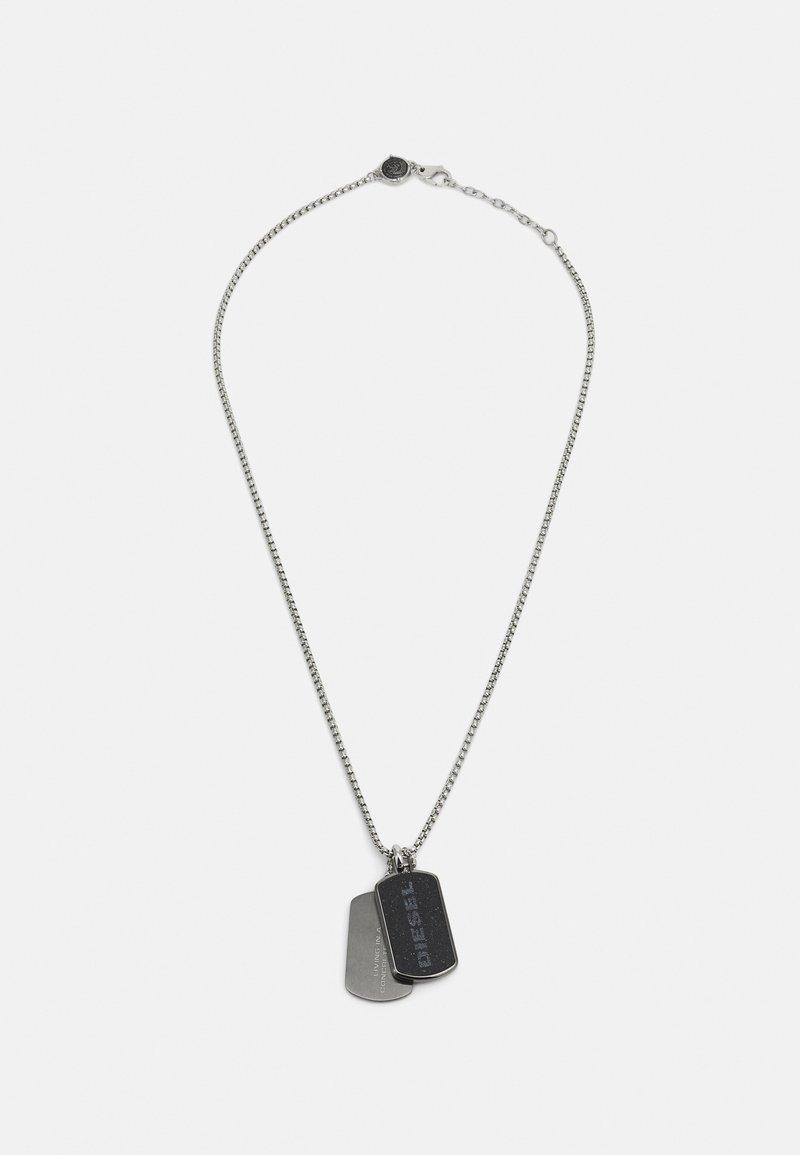 Diesel - DOUBLE DOGTAGS - Necklace - gunmetal