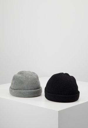 ONSSHORT BEANIE 2 PACK - Bonnet - black/grey melange