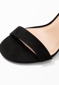 New Look Wide Fit - WIDE FIT TARONA - Sandály na vysokém podpatku - black - 2