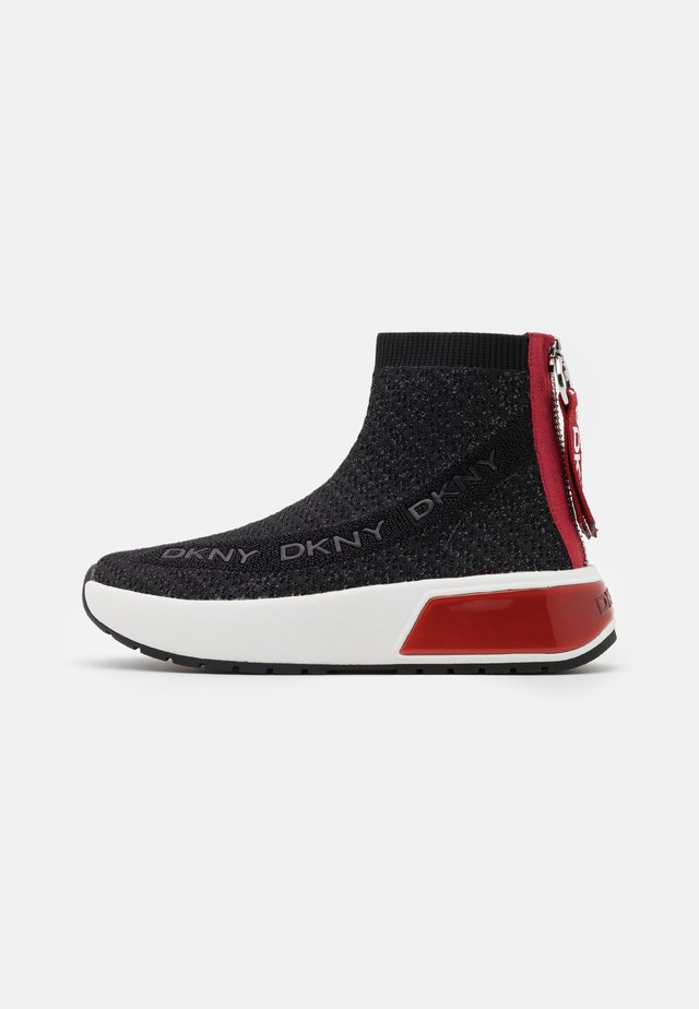 DAWSON - High-top trainers - black/red