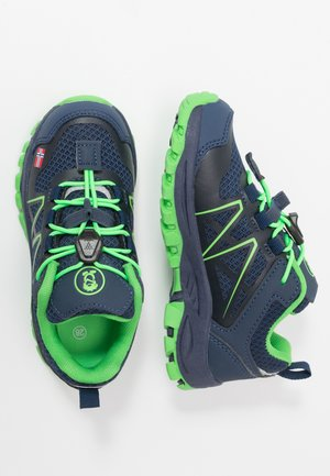 KIDS SANDEFJORD LOW UNISEX - Hiking shoes - navy/green