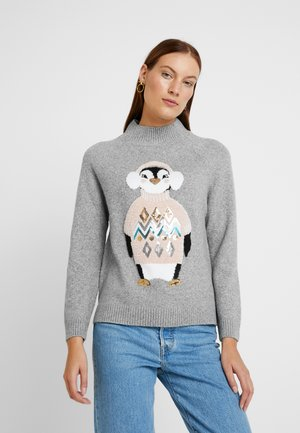 COSY PENGUIN - Jumper - grey marl