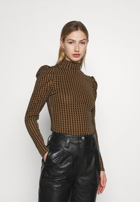 Fashion Union - TISHOW - Long sleeved top - pecan houndstooth - 0
