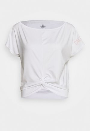 SHORT SLEEVE - T-shirt z nadrukiem - white
