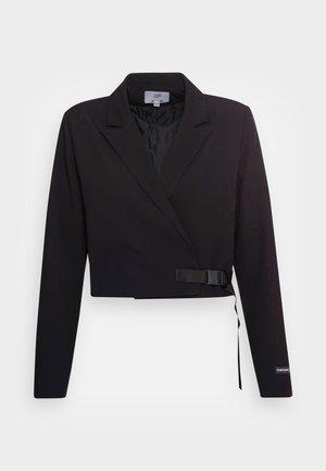 CROP JACKET - Blazer - black
