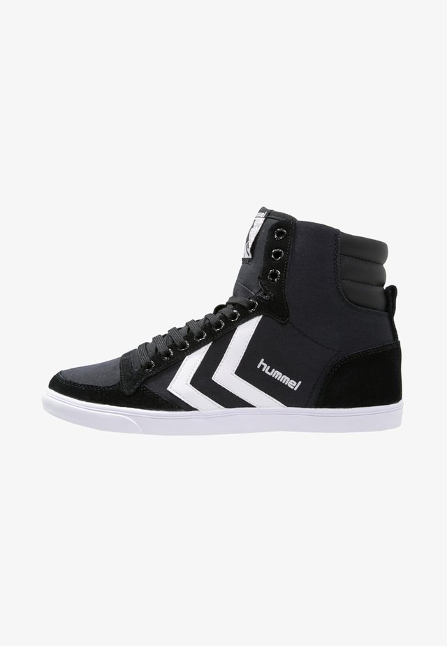 SLIMMER STADIL - Sneakers high - black/white