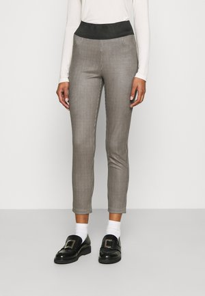 Trousers - navy houndstooth