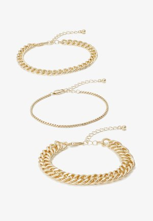 PCCHAIN BRACELET 3 PACK - Bracelet - gold-coloured