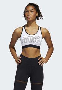 adidas Performance - DON'T REST ALPHASKIN BRA - Urheiluliivit: keskitason tuki - white - 0