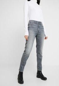 G-Star - 3301 HIGH STRAIGHT 90S - Jeans straight leg - faded pebble grey - 0