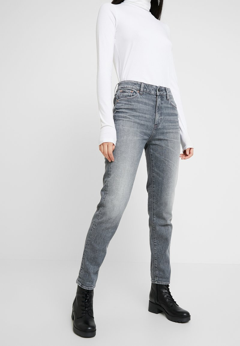 G-Star - 3301 HIGH STRAIGHT 90S - Jeans straight leg - faded pebble grey