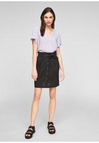 Q/S designed by - A-line skirt - black - 1