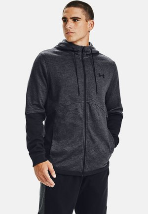 DOUBLE KNIT  - Zip-up hoodie - pitch gray